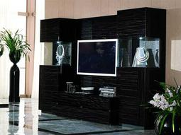 Rossetto Nightfly 107'' x 22'' Ebony Entertainment Center