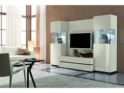 Rossetto Nightfly 107'' x 22'' White Entertainment Center
