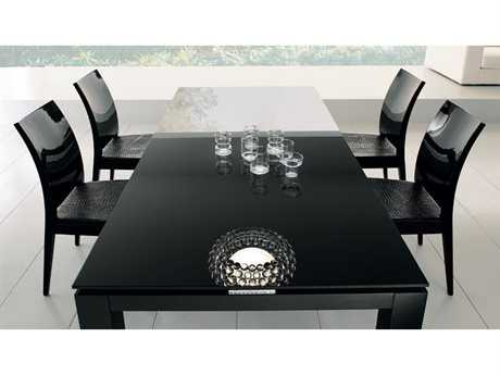 Rossetto Diamond 81'' x 41'' Rectangular Black Dining Table