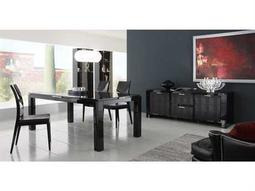 Rossetto Diamond Black Dining Set with Swarovski Crystals