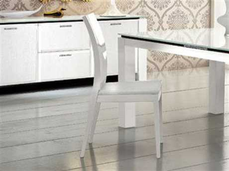 Rossetto Diamond White Dining Side Chair (2 Piece Set)