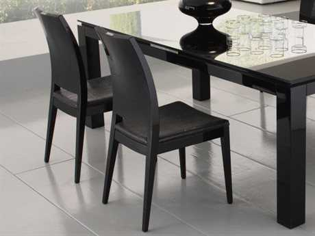 Rossetto Diamond Black Dining Side Chair (2 Piece Set)