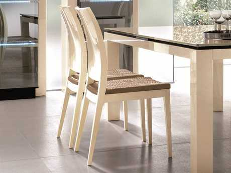 Rossetto Diamond Ivory Dining Side Chair (2 Piece Set)