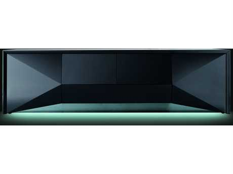 Rossetto Sapphire 74'' x 22'' Black Sideboard