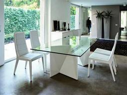 Rossetto Sapphire White Dining Set