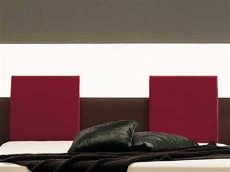 Rossetto Win Red Leather Headboard Pillows (2 Piece Set)