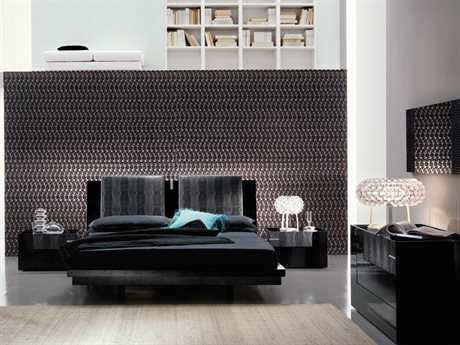 Great Rossetto Diamond Black Bedroom Set