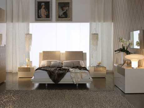 Rossetto Diamond Ivory Bedroom Set