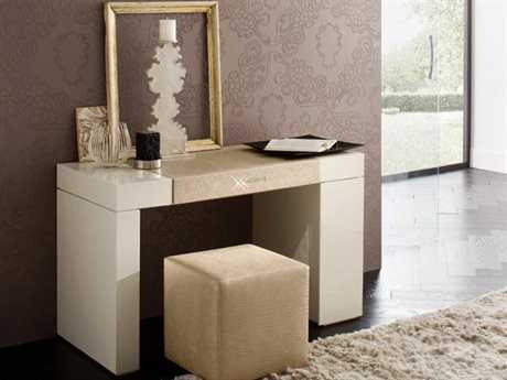 Rossetto Diamond Ivory Glossy & Crocodile Leather Dressing Table