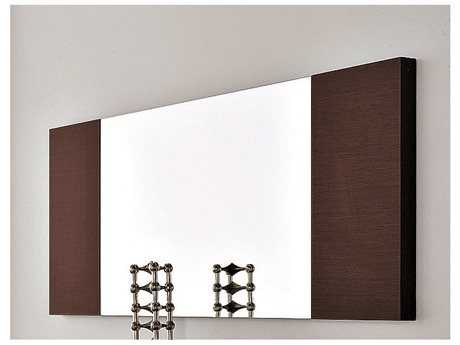 Rossetto Line 51'' x 20'' Wenge Wall Mirror