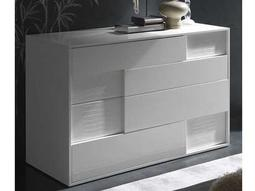 Rossetto Nightfly White Glossy with Crocodile Leather Dresser