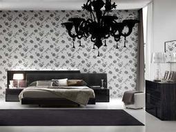 Rossetto Nightfly Ebony Bedroom Set