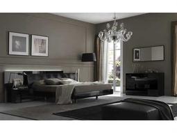 Rossetto Nightfly Black Bedroom Set