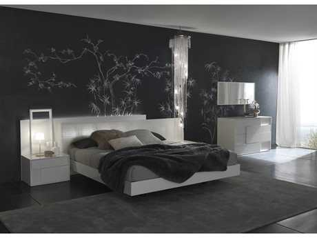 Rossetto Nightfly White Bedroom Set