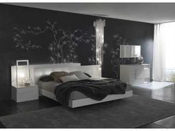 Rossetto Nightfly White Bedroom Set