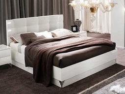 Rossetto Dune White King Size Platform Bed