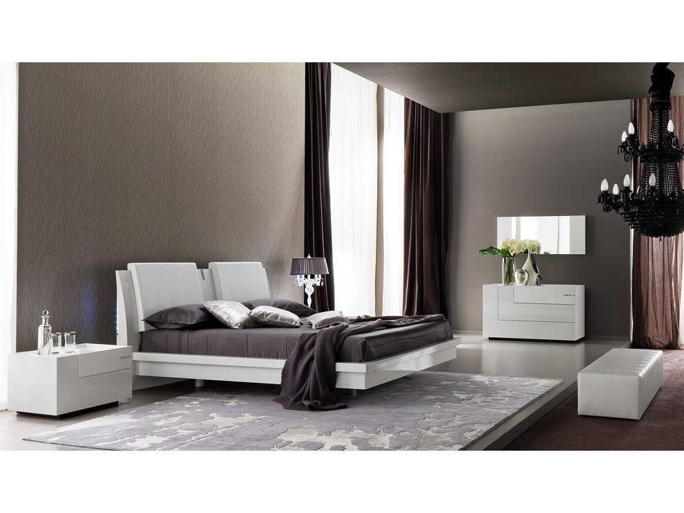 rossetto diamond white bedroom set rost426600345017set
