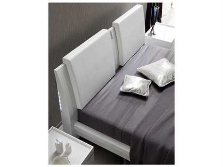 Rossetto Diamond White Crocodile Leather Headboard Pillows (2 Piece Set)