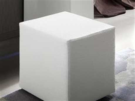 Rossetto Diamond White Crocodile Leather Pouf