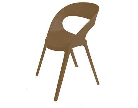 Resol Carla Recycled Plastic Chocolate Arm Chair