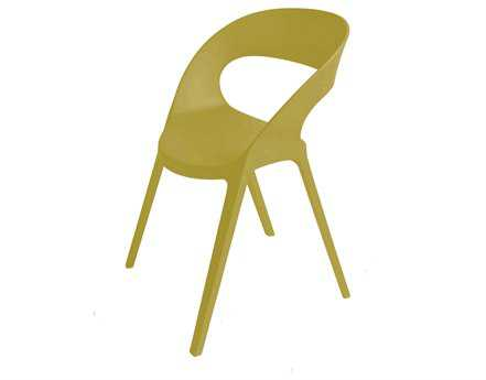 Resol Carla Recycled Plastic Green Olive Arm Chair