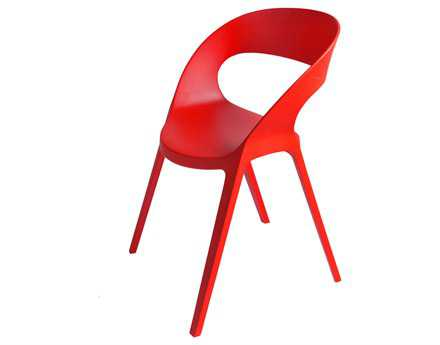 Resol Carla Recycled Plastic Red Arm Chair