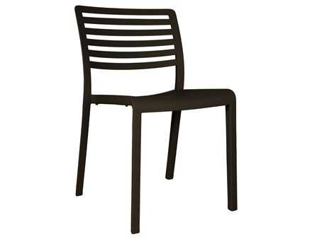 Resol Lama Recycled Plastic Black Side Chair