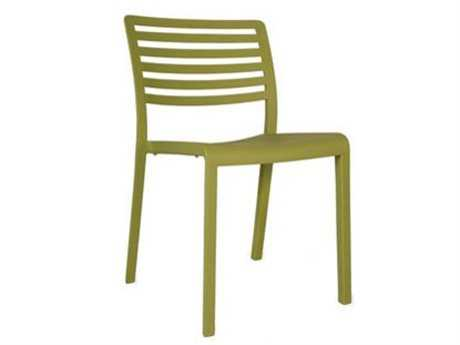 Resol Lama Recycled Plastic Green Olive Side Chair