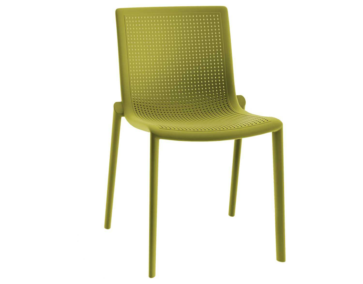 resol beekat recycled plastic green olive side chair rs30543. Black Bedroom Furniture Sets. Home Design Ideas