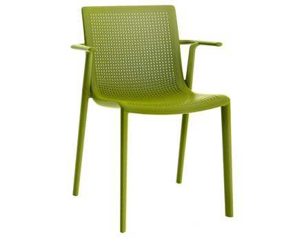 Resol Beekat Recycled Plastic Green Olive Arm Chair