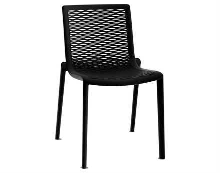 Resol Net Kat Recycled Plastic Black Side Chair