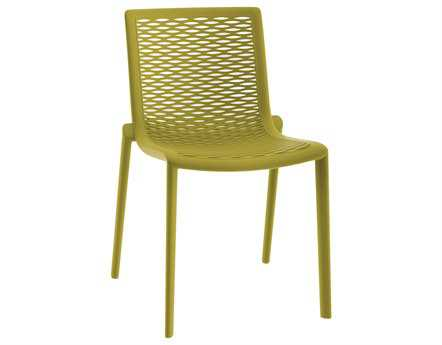 Resol Net Kat Recycled Plastic Green Olive Side Chair