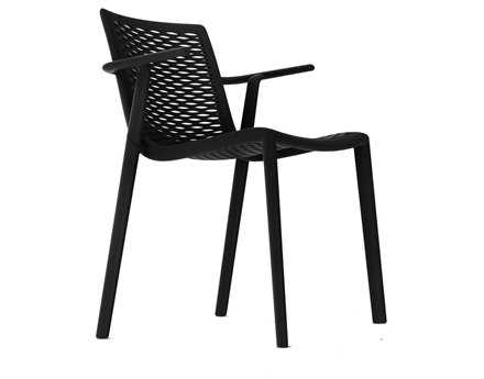 Resol Net Kat Recycled Plastic Black Arm Chair
