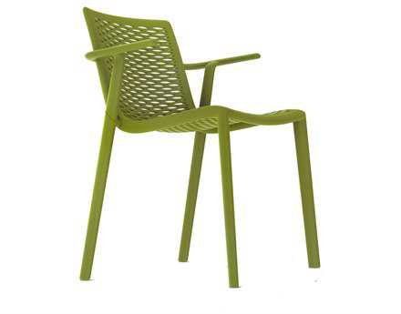 Resol Net Kat Recycled Plastic Green Olive Arm Chair