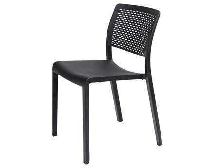 Resol Trama Recycled Plastic Black Side Chair