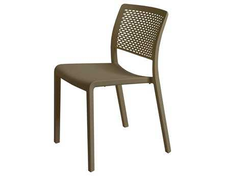 Resol Trama Recycled Plastic Chocolate Side Chair