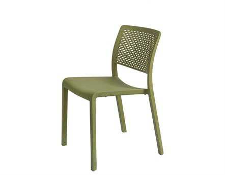 Resol Trama Recycled Plastic Green Olive Side Chair