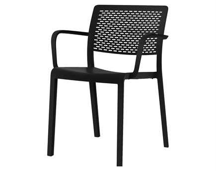 Resol Trama Recycled Plastic Black Arm Chair