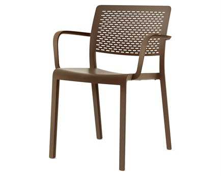 Resol Trama Recycled Plastic Chocolate Arm Chair