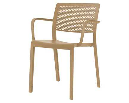 Resol Trama Recycled Plastic Sand Arm Chair