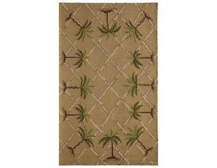 Rugs America Lenai Rectangular Sunny Palm Area Rug