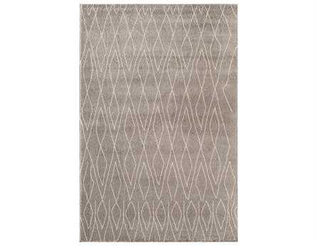 Rugs America Tangier Rectangular Light Grey Area Rug