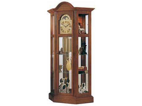 Ridgeway Clocks Richardson II Antique Cherry Curio Grandfather Clock