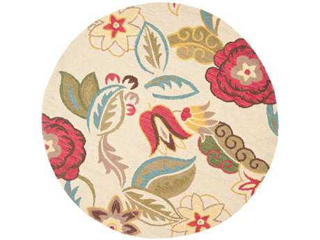 Safavieh Blossom Round Beige / Assorted Area Rug