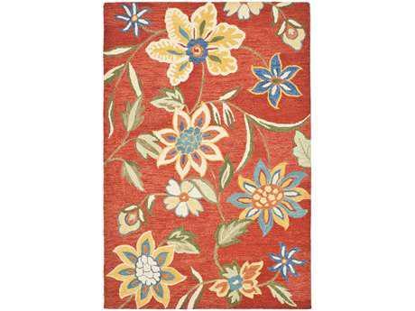 Safavieh Blossom Rectangular Rust / Assorted Area Rug