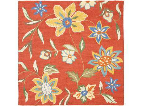 Safavieh Blossom 6' x 6' Square Rust / Assorted Area Rug
