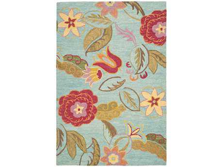 Safavieh Blossom Rectangular Blue / Assorted Area Rug
