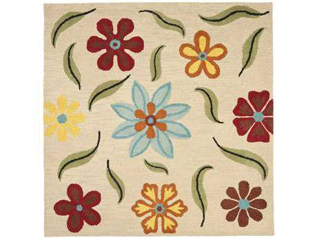 Safavieh Blossom 6' x 6' Square Beige / Assorted Area Rug