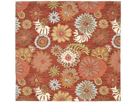 Safavieh Blossom 6' x 6' Square Red / Assorted Area Rug