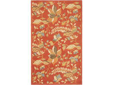 Safavieh Blossom Rectangular Rust / Assorted Area Rug